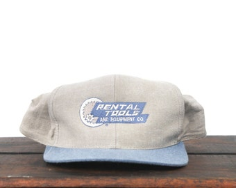 Vintage Rental Tools & Equipment Co Trucker Hat Snapback Baseball Cap