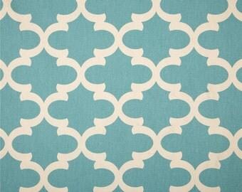 3 Yards Premier Prints Fynn Village Blue/Natural/ Periwinkle Blue/Cotton Fabric/Blue Cotton