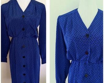 90s Blue is Beautiful Womens Dress
