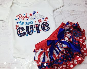 Girl's 4th of July outfit, Baby girls 4th of July, 4th of July Satin bloomer, red white and blue, 4th of July baby girl