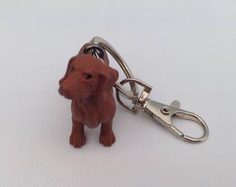 Sausage dog Dachund keychain keyring bag charm