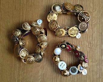 Brass Button Bracelets