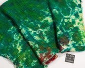Sock Blank | Snow Dyed Sock Blank in Green and Brown | Hand Dyed Sock Yarn | One Of A Kind Sock Yarn | Hand Dyed Yarn | Mountain Path