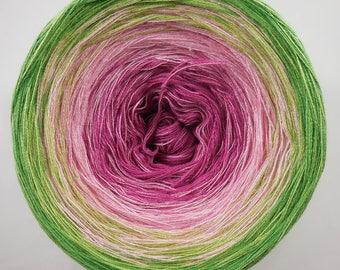 Bauerngarten - 4plies -  self striped, color gradient yarn, Wollium (Germany), cotton yarn, hand wound