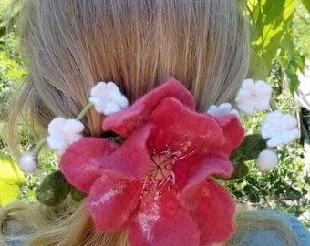 hairpin, hair ornament, spring hair ornament, gift for her , handmade