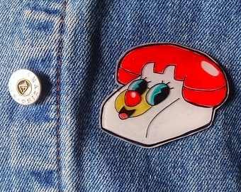 Powerpuff Girls Phone Pin, Cute Kawaii Brooch, PPG Lapel Pin