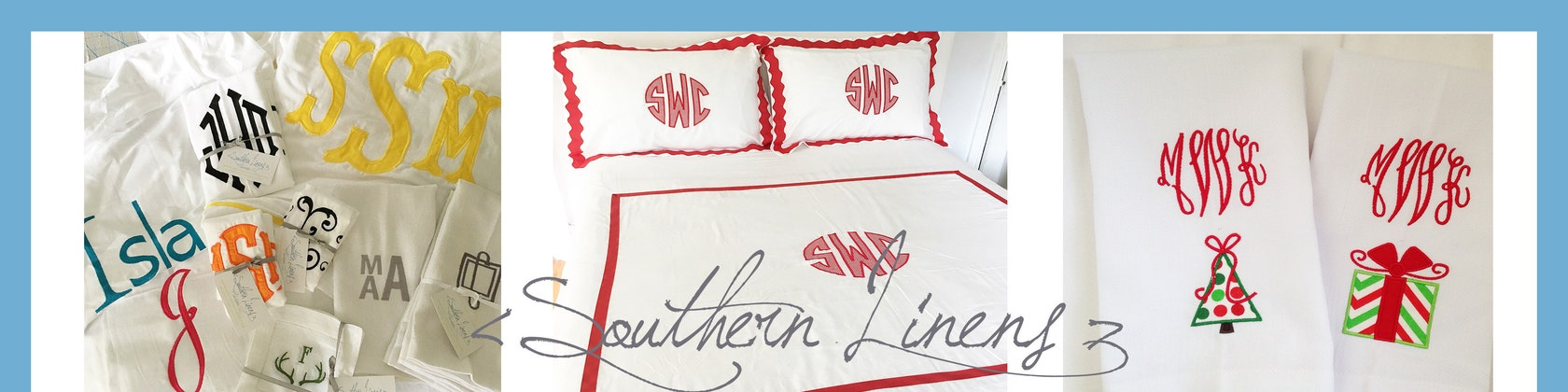 monogram linens by southernlinen on etsy