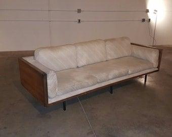 Milo Baughman for Thayer Coggin Sofa with Lucite Arms