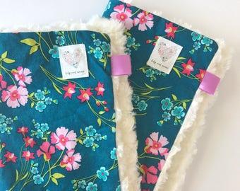 Mini Lovey Blanket in Jewel-tone Florals