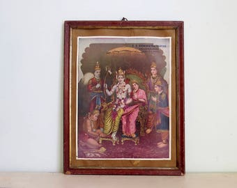 hindu art, hindu decor, boho decor, religious art, wabi sabi art, goddess art, unusual wall art, salvaged art, made in india, religious icon