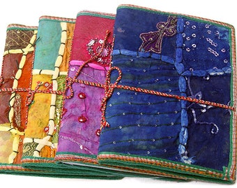 "Handmade ethnic Indian patchwork embroidery  journal notebook 8""x6"""