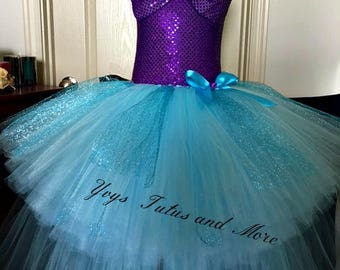 Little Mermaid Tutu Dress (short and long length)  Sneakers are not included in price.