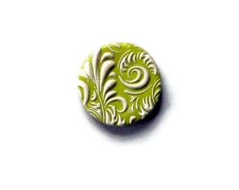 Strong magnets/handmade polymer clay magnets/Green and white handmade polymer clay magnet/Magnets for home office/ Fridge Magnets