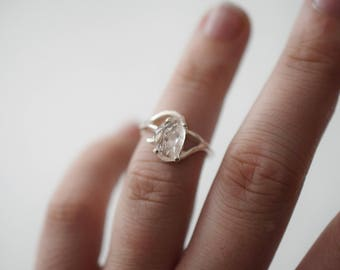 Unique Engagement Ring, Solid Sterling Silver Wedding Band, Filigree Style, Anniversary Ring, Handmade Diamond Ring, Boho Engagement Ring
