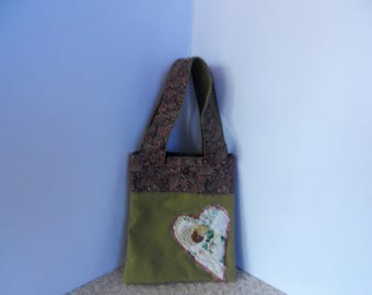 Fabric Repurposed Handbag Tote Purse