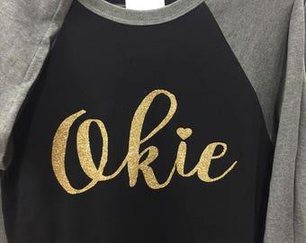Okie w/ Gold glitter