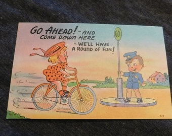 Vintage Comic GO AHEAD! And Come Down Here-We'll Have a Around of FUN! #574