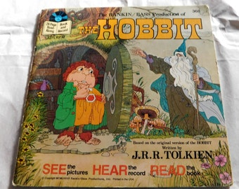 The Hobbit Book and Record by J.R.R. Tolkien 1977