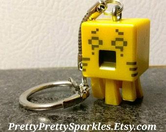 Minecraft Keychains / Ghast Keychain / Mini Figure keychain / Minecraft gifts /  Minecraft party / Minecraft zipper pull