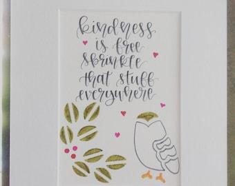 """Kindness 5x7"""" Print"""