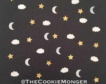 Moons, Clouds and Stars Wafer Sprinkles