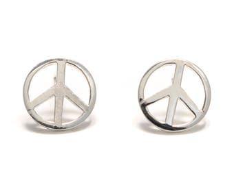 Peace Silver earrings 925 sterling silver