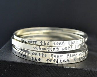 Phish Sterling Silver Stacking Bracelets
