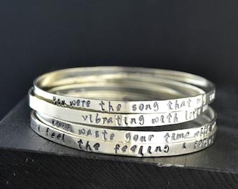 Phish Sterling Silver Stacking Bracelets