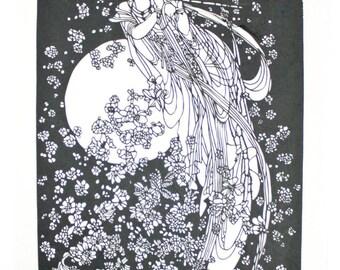 Paper Cut LOT Cutting Black AS IS Folk Art Asian Silhouette Scherenschnitte