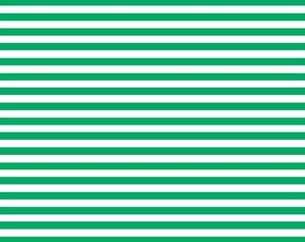Green and white stripe craft  sheet - HTV or Adhesive Vinyl -  stripe pattern HTV3014
