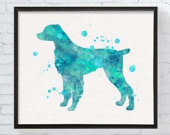 Brittany Spaniel Print, Watercolor Brittany Spaniel, Brittany Spaniel Painting, Dog Wall Art, Dog Lover Gift, Dog Memorial, Custom Dog Art