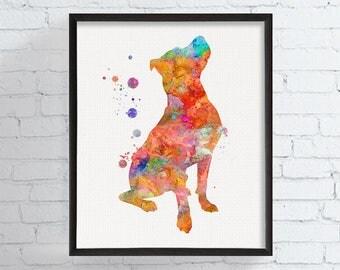 Pitbull Art Print, Watercolor Pitbull, Pit Bull Painting, Pit Bull Gifts, Pitbull Wall Decor, Pit Bull Wall Art, Dog Lover Gift, Watercolor