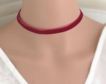 Velvet choker, velvet choker necklace, black velvelt choker, red velvelt choker, boho choker, dainty choker, hamsa necklace