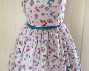Vintage 50's Style One shoulder Disney dress