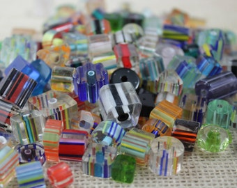Assorted Lot Glass Cane Beads (30 Pieces)