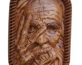 Old Man Wood Carving - Ol...