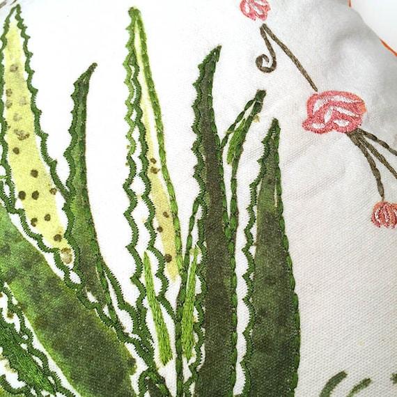 Aloe Vera Cactus Pillow Cactus Pillow Cactus Home Decor Aloe Vera Illustration Aloe Vera Throw Pillow