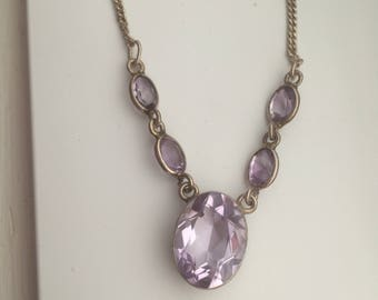 Vintage Lavaliere Style Amethyst Necklace