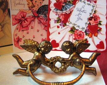 Cherubs Angels Hardware Drawed Pulls Handles