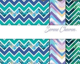 "Patterned Craft Vinyl - Serene Chevron 12x12"" Individual Sheet or Multi-Pack"