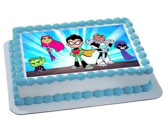TEEN TITANS GO edible cake topper, teen titans go cupcake toppers, teen titans birthday, teen titans go cake, teen titans party, teen titans