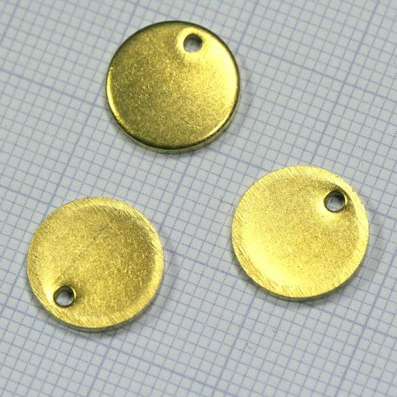 raw brass tag, 40 pcs 12 mm 1.5 mm thickness raw brass circle, raw brass charms ,68RK-56
