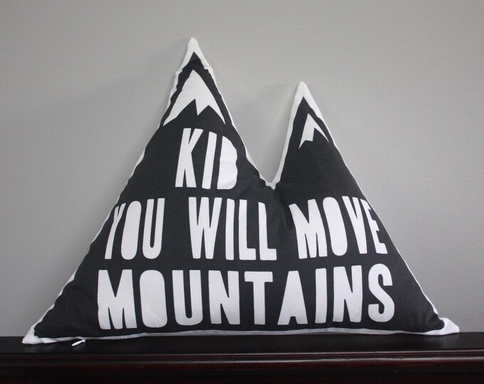 Mountain pillow--Modern Black and White pillow--Mountain nursery pillow