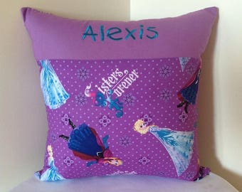 Personalised cushion cover - Frozen sisters forever