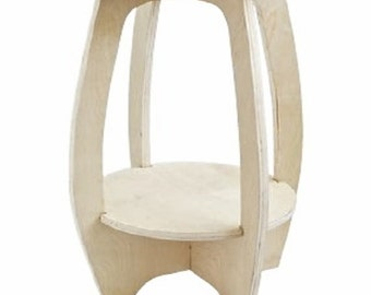 Bowlegged Plant Stand DIY Woodworking Plans