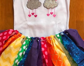 Rainbow Birthday Tutu Outfit