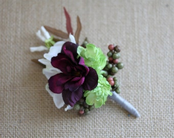 Men's Silk Flower Boutonniere