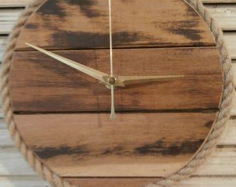 Wooden Wall Clock, Wooden Kitchen Clock, Living Room Clock, Wood slats clock, Upcycled Sunlounger Slats Clock, Quartz Clock, Wedding Gift