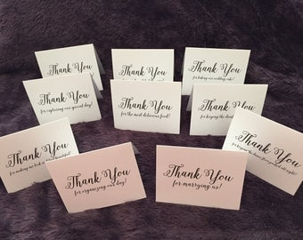 Ultimate Wedding Thank You Cards Set for Wedding Vendors - Photographer, DJ, Bartender, Florist and More!