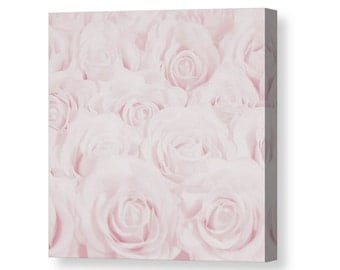 Pastel Pink Roses Canvas Print, Botanical Print, Flower Photography, Nature Photo, Home Decor, Baby, Pastel Pink Nursery Decor, -NO. 1610